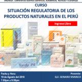 Curso Situación Regulatoria de los Productos Naturales en el Perú