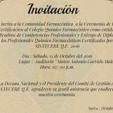 Ceremonia de Entrega de Renovación y Autorización al CQFP